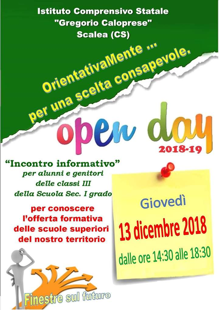 Open day 2018-2019